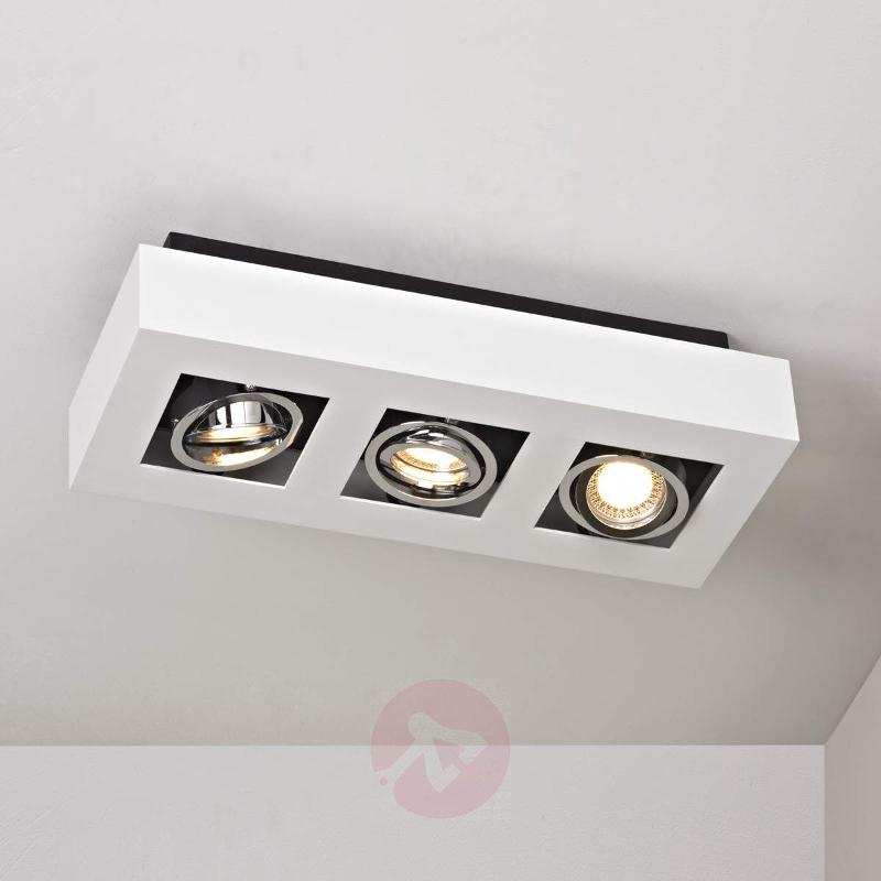 3-bulb white LED ceiling light Vince - Ceiling Lights