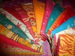Patchwork Kantha Quilt -