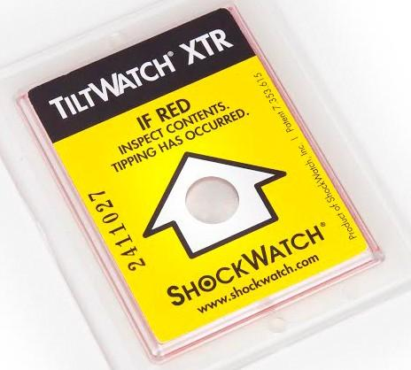 Tiltwatch XTR Indicators & Labels - Self Adhesive Shipment Monitoring Labels