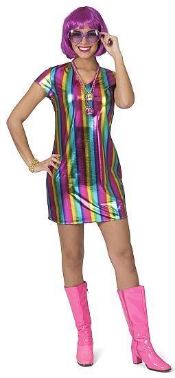 Robe Disco à rayures - Articles de fête et Carnaval
