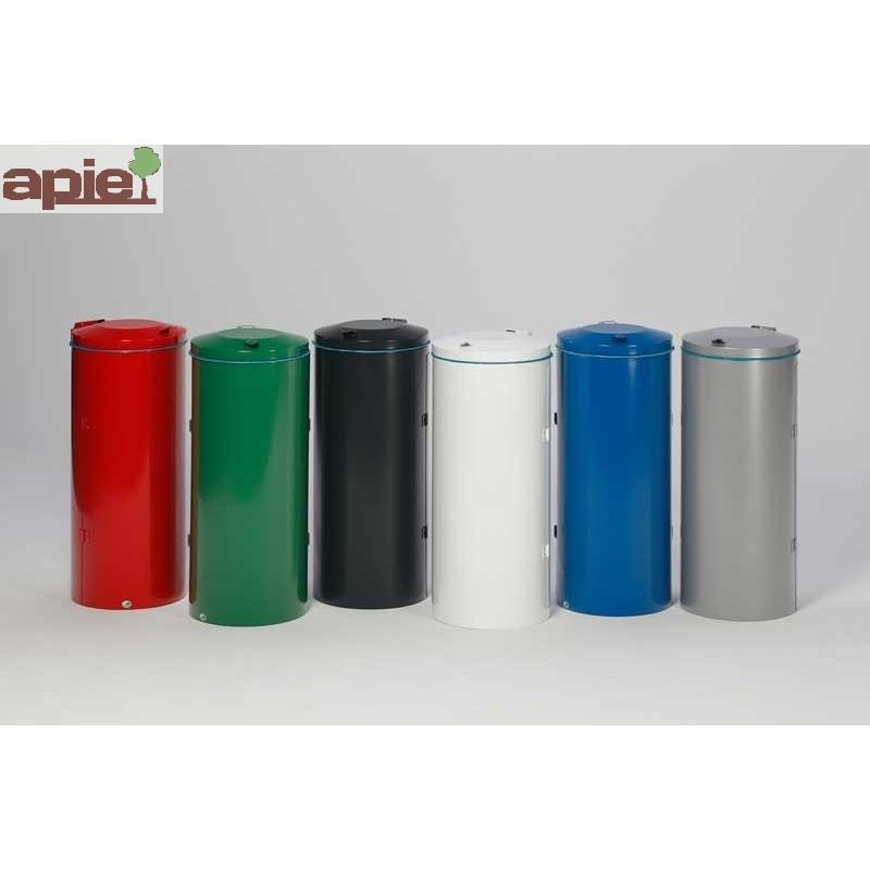 Poubelle compacte en acier avec porte double battants - Référence : 1080