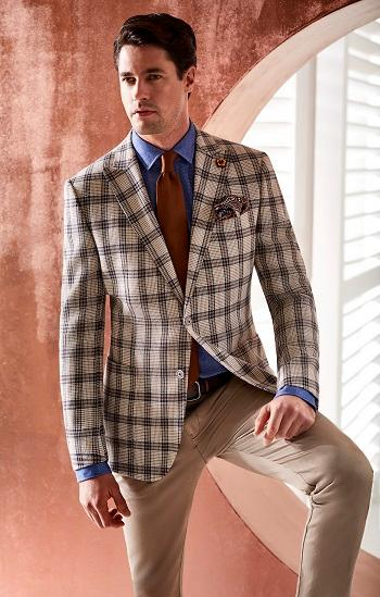 Casual Men's Jacket and Trousers - Summer 2018 Collection
