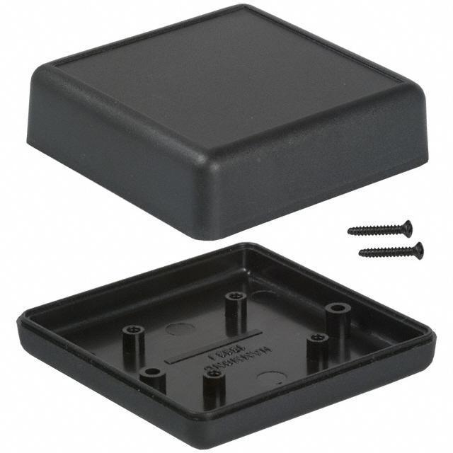 """BOX ABS BLACK 2.61""""L X 2.61""""W - Hammond Manufacturing 1593JBK"""
