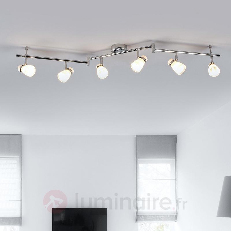 Plafonnier avec spots à six lampes Nicaro - Spots et projecteurs halogènes