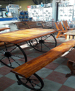 Мебель ( комплект ) - Дуб под старину - комплект Колесница -- Бар Кафе Рестаран Сад