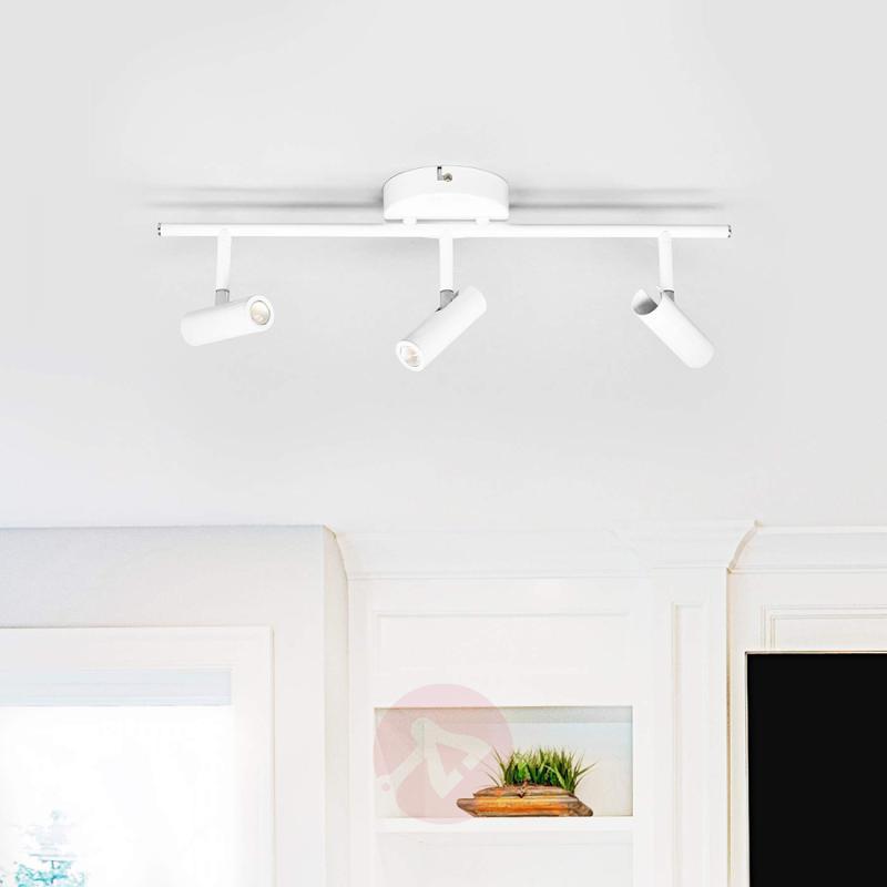 Simple, white LED ceiling light Eddie - indoor-lighting