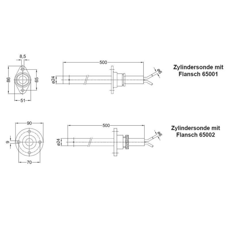 Tubo de Pitot - Zylindersonde MBZ - Tubo de Pitot - Zylindersonde MBZ