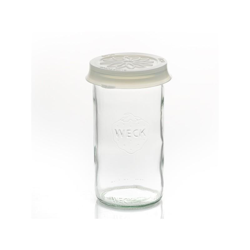 Cap out of silicone Blossom eCAP Storage - diameter 60 mm, white for jars WECK