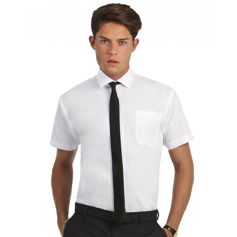 Chemise homme manches à ourlet Poplin - Homme