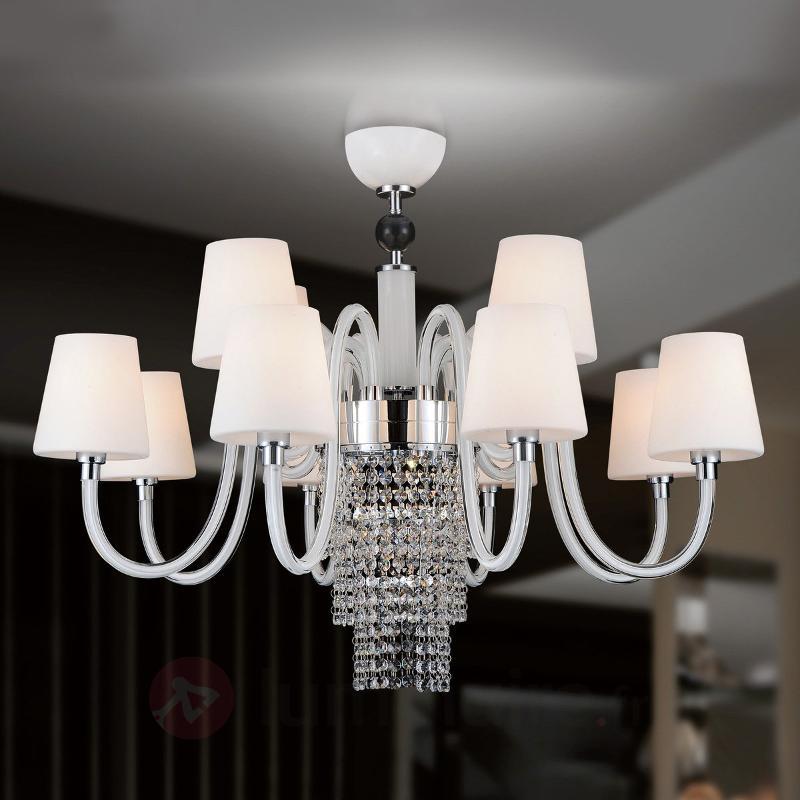 Lustre opulent Marina à 12 lampes - Lustres à abat-jour