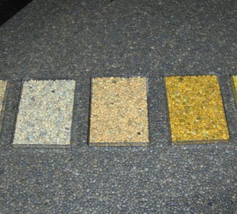 Tapis de pierre - Grains - Granulométries