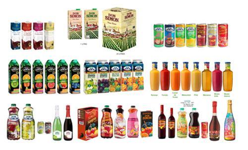 Bebidas, sangrías, refrescos, zumos... - Variedad de bebidas