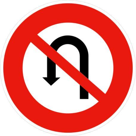 Panneau B2c Interdiction De Faire Demi Tour - Balisage De Chantier Et Panneaux Routiers