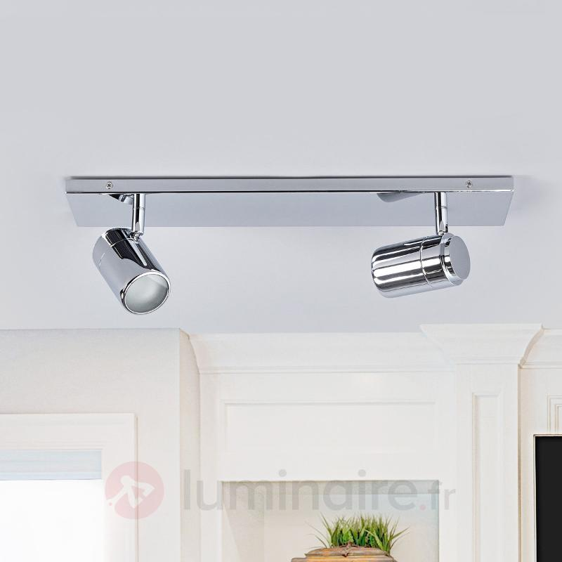 2 lampes Applique pour salle de bain Dejan chromée - Salle de bains et miroirs