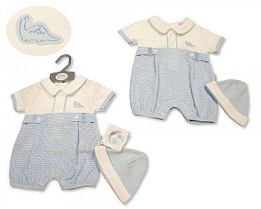 Baby Boys Romper with Hat - Dino  -