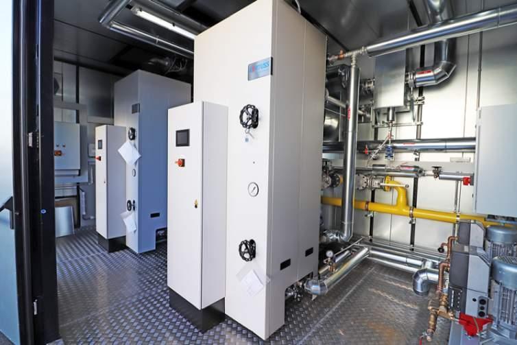 Instalação a vapor em contêiner - Caldeiras de vapor -