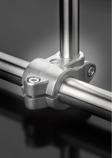 Solid clamps – the original aluminium tube connectors -
