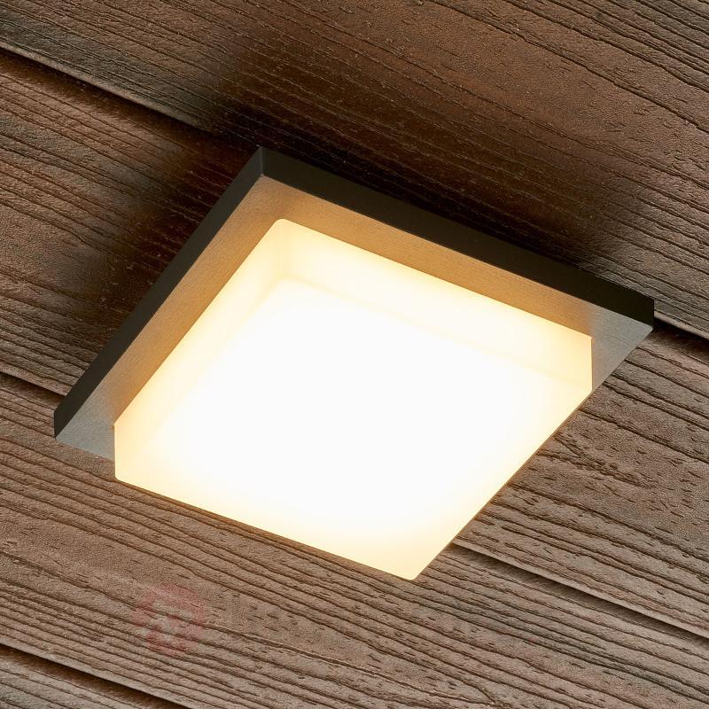 Applique murale extérieure LED Joschi carrée - Appliques d'extérieur LED