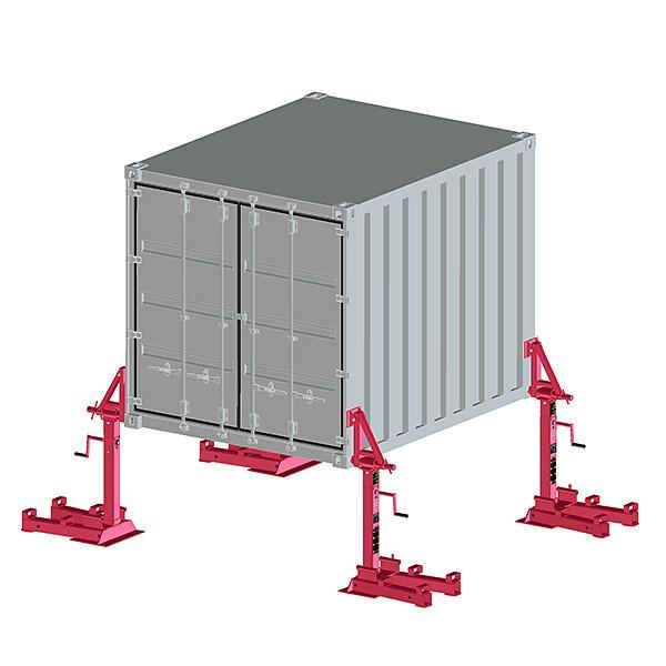 Container-Abstellvorrichtung max. 32 t - Container-Abstellvorrichtung - für luft- & blatt-gefederte Fahrzeuge max. 32 t