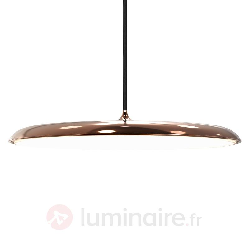 Suspension LED plate Artist 40, cuivre - Suspensions LED