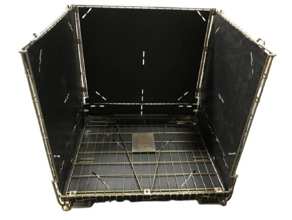 Habillage pour conteneur industriel grillagé  -