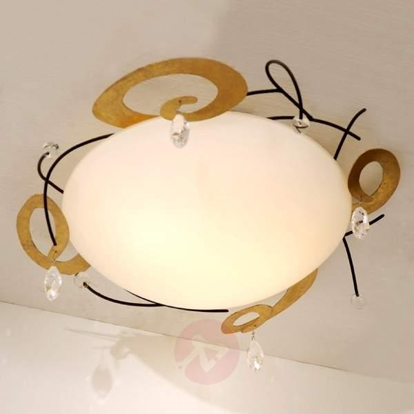 Tasteful ceiling lamp CASINO with crystal - Ceiling Lights