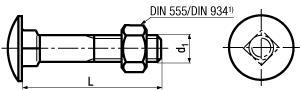 Round head square neck bolts - BN 248