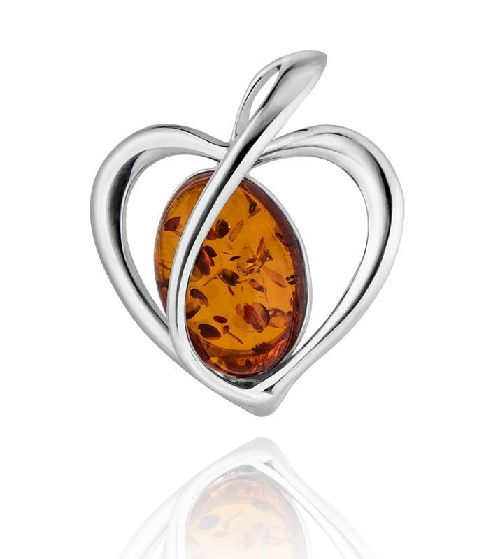 Silver 925 amber pendant -
