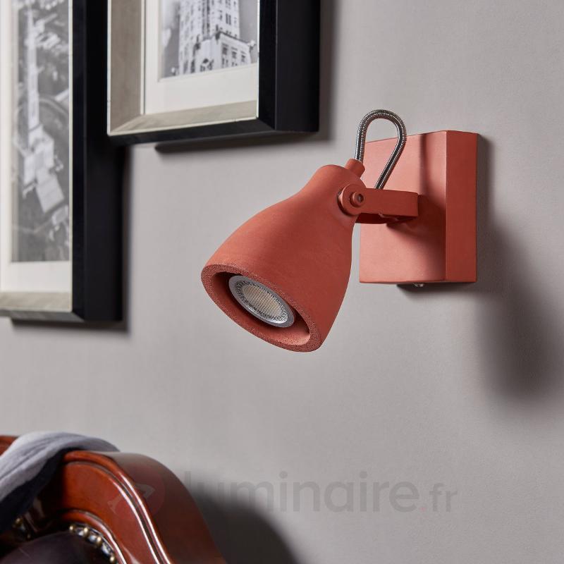 Spot en béton de couleur terracotta, LED - Spots et projecteurs LED