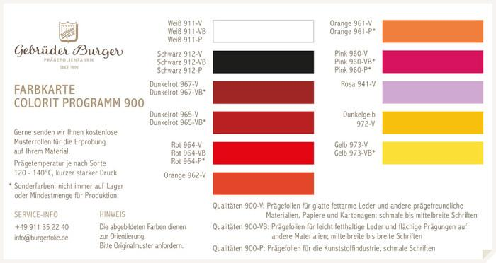 Colorit Programm 900/1 -