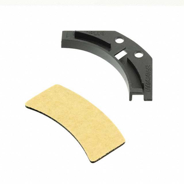 CORNER GUIDE & PADS,BLACK,30MM R - Essentra Components EFA04-34-P01