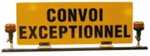 Barre de signalisation convoi exceptionnel