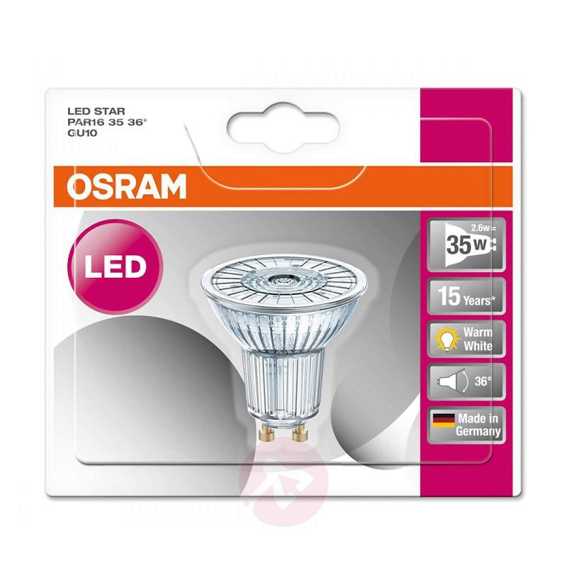 GU10 2.6 W 827 LED glass reflector Star 36° - light-bulbs