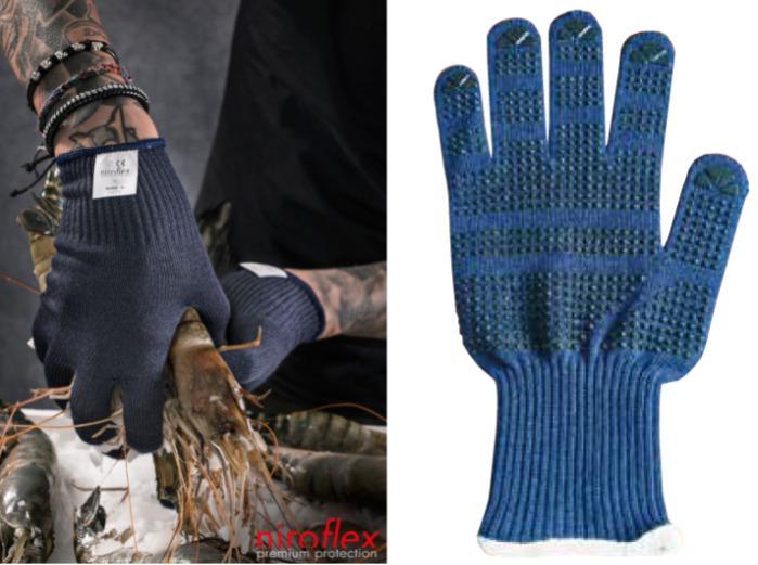 Gant Alimentaire Anti-froid à points BlueShell Ice dots - Gants de protection contre le froid Gants Alimentaire Isolation thermique