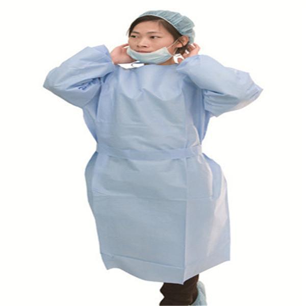 Vestido cirúrgico SMS - Branco azul, amarelo, 115 * 137cm, 120 * 140cm, 125 * 145cm, 130 * 150cm