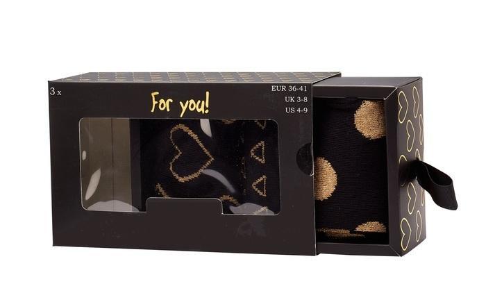 Geschenkbox Damen-Söckchen * 3er-Pack - null