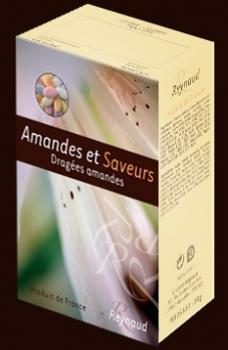 Dragées amandes - Packaging Boîte Amandes et Saveurs 1 Kg