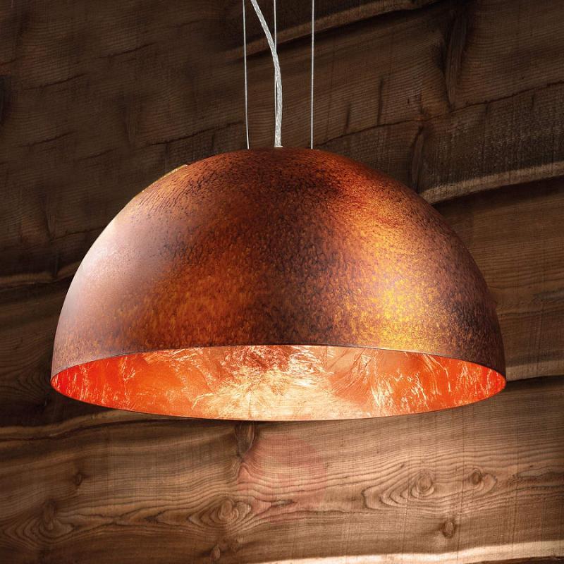 Half-shell-shaped pendant light Dune 2 - indoor-lighting