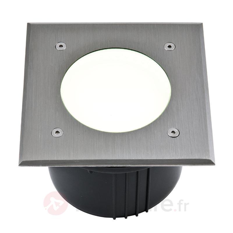 Spot encastrable dans le sol LED carré Aachen 16cm - Luminaires LED encastrés au sol