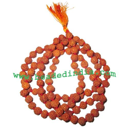 Rudraksha Beads String (mala) 5 Mukhi (five face), size: 5mm