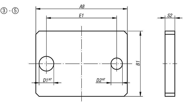 Plaque de perçage DIN 6348 extension de gamme - Dispositifs de perçage