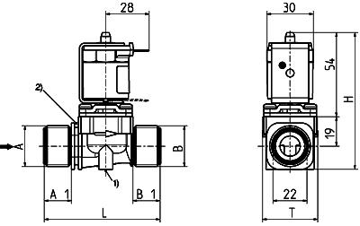 Electrovanne à commande directe, DN 10 séparation du fluide - 01.010.127