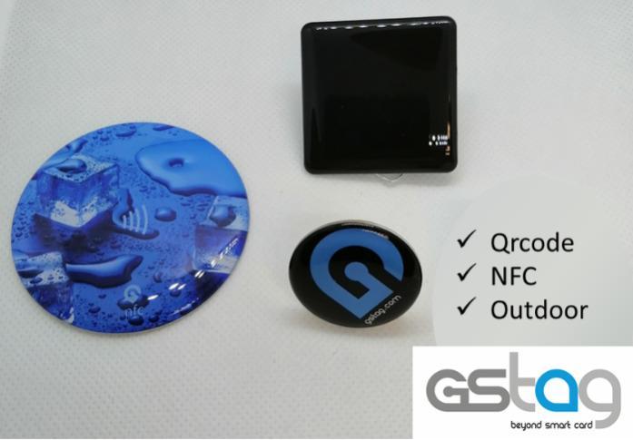 Tag adhésif NFC QRCODE - TAG NFC résine - dématerialisation de menus