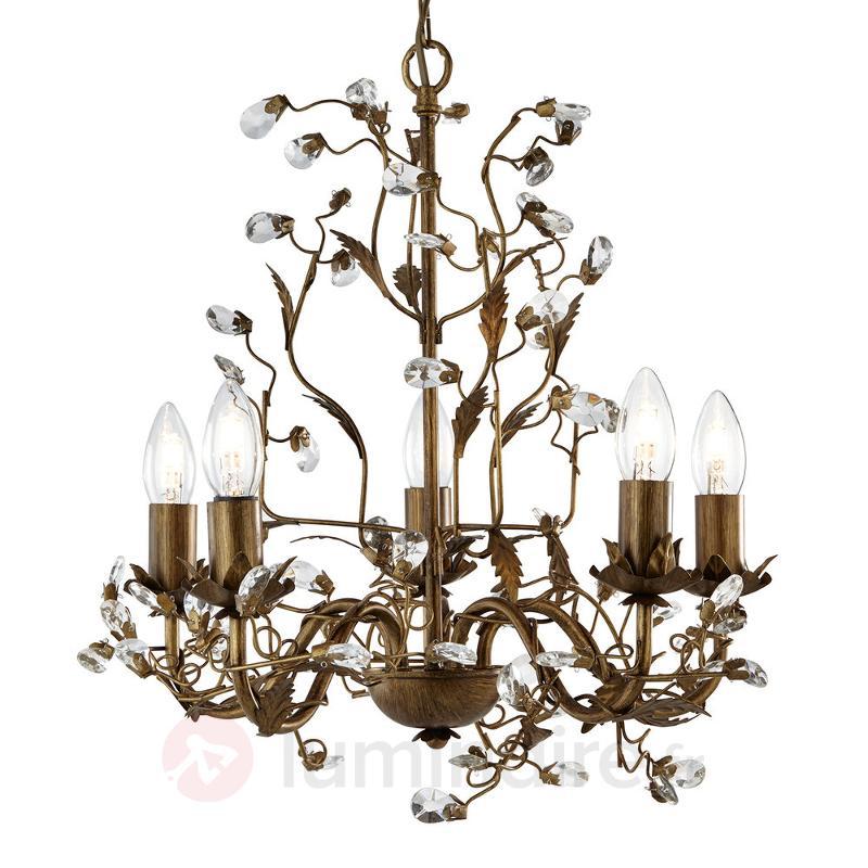 Magnifique lustre Almandite 5 fl. - Lustres style florentin