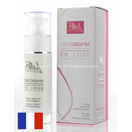 Crème contour yeux hyaluronique à l'huile de rose - Rbg Paris
