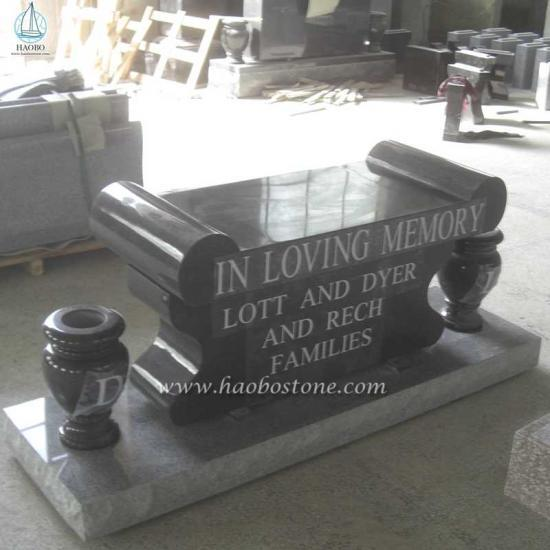 Natural Stone Memorials Bench For Cremation - Monument Bench