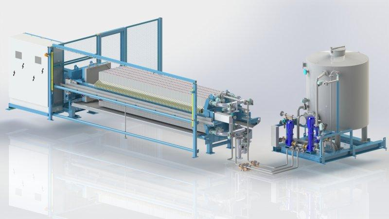 Filtro prensa de membranas - El filtro prensa de membranas: mayor drenaje con la tecnología de membrana