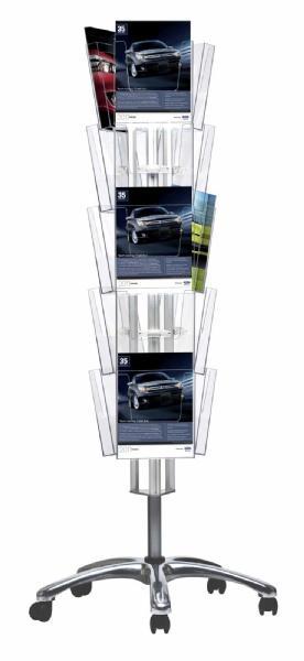 Brochure Sets - Porte Brochures sur roulettes (15 pcs)