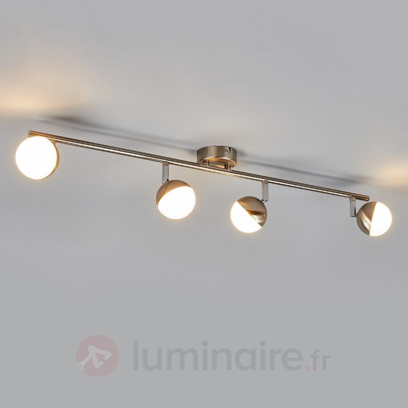 Discret plafonnier LED Jonne, nickel mat - Spots et projecteurs LED