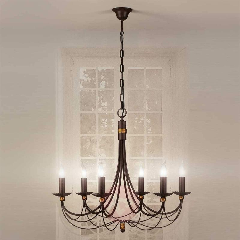 6-bulb chandelier Leonardo - Chandeliers